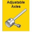Axe de roues ajustable